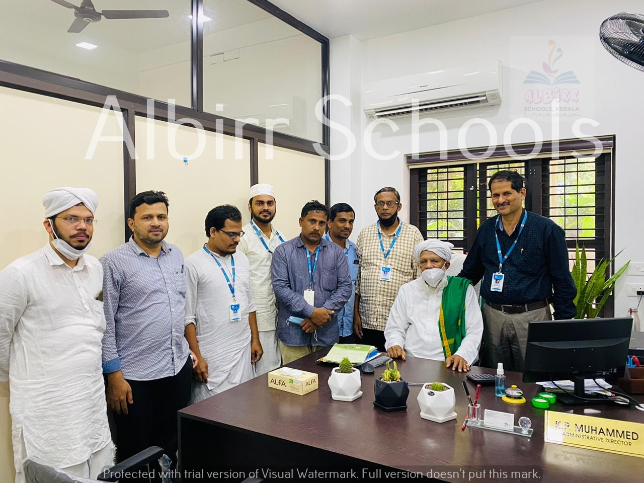 Prof. Alikutty usthad in the office
